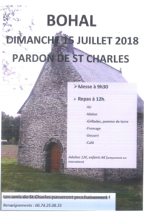 PARDON DE ST CHARLES DIMANCHE 15 JUILLET