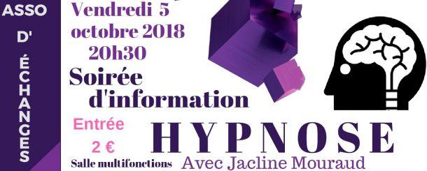 soirée d'information sur l'HYPNOSE