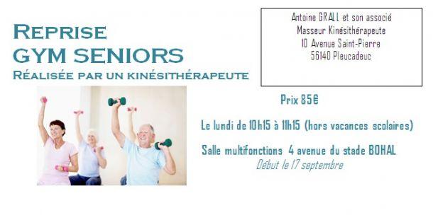 Gym seniors réalisée par un kinésithérapeute