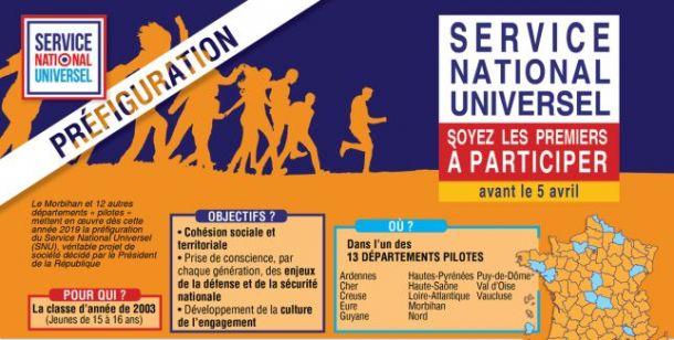 S E R V I C E NATIONAL UNIVERSEL SOYEZ LES PREMIERS À PARTICIPER